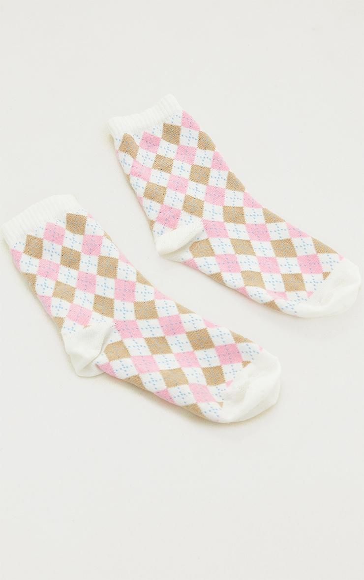 Pink Argyle Socks 3