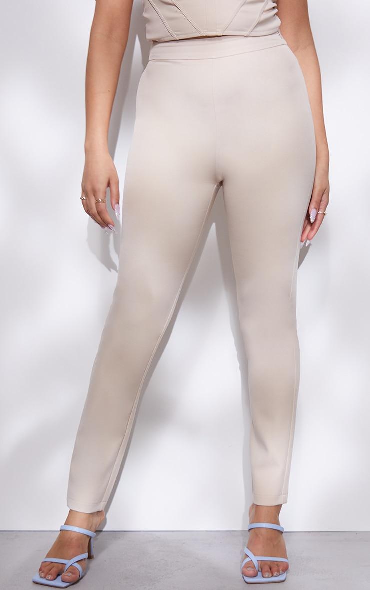 Petite Stone High Waisted Straight Leg Trousers 2