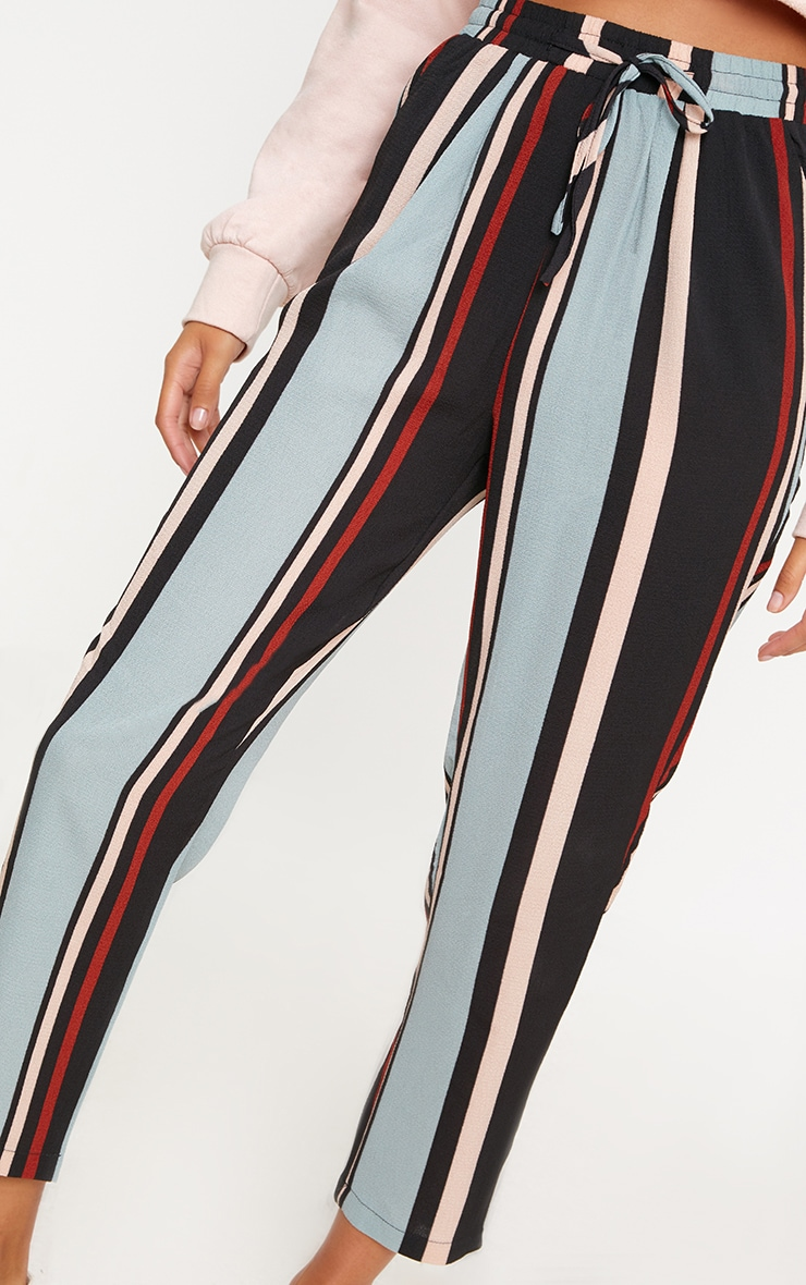 Blue Stripe Casual Trousers 5