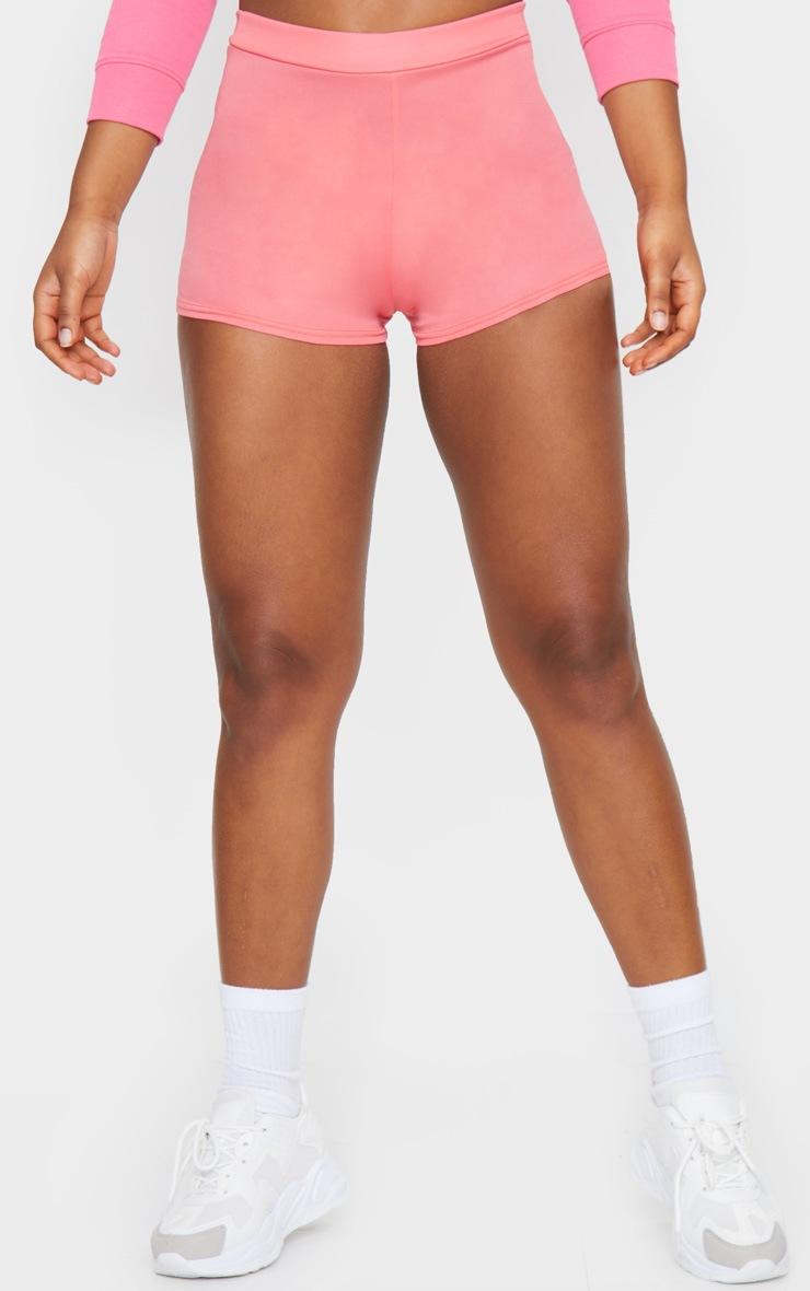 Pink Jersey High Waisted Hot Pants 2