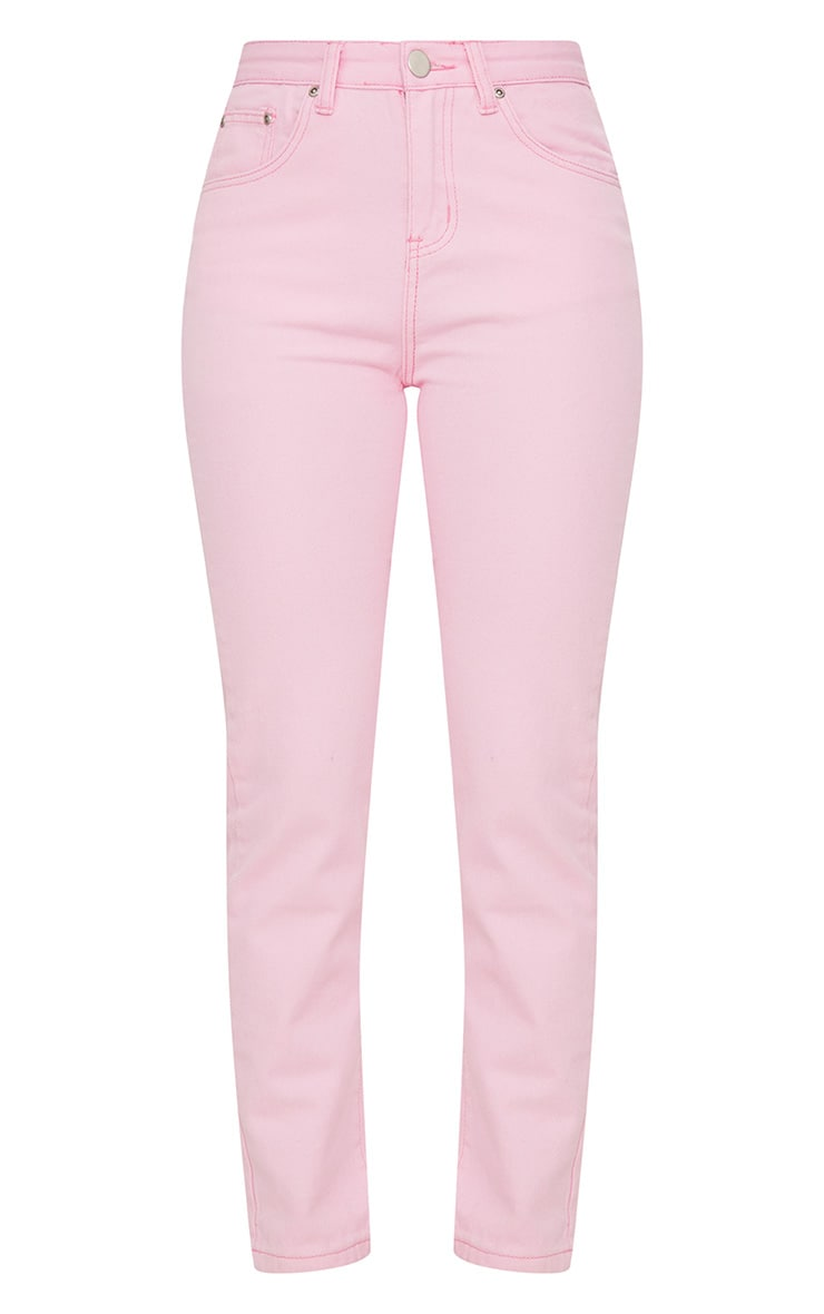 Pink Pastel Mom Jeans 3