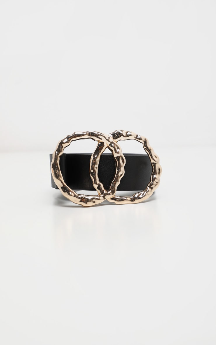 Black Double Ring Buckle Belt 2