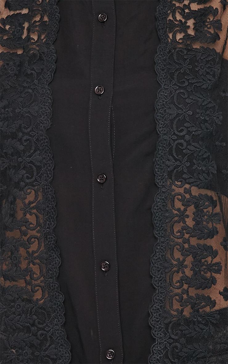 Alisha Black Lace Front Sleeveless Shirt  5