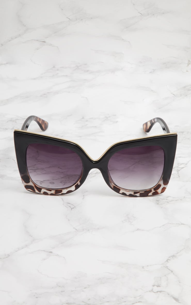 Black Half Tortoiseshell Oversized Sunglasses 3