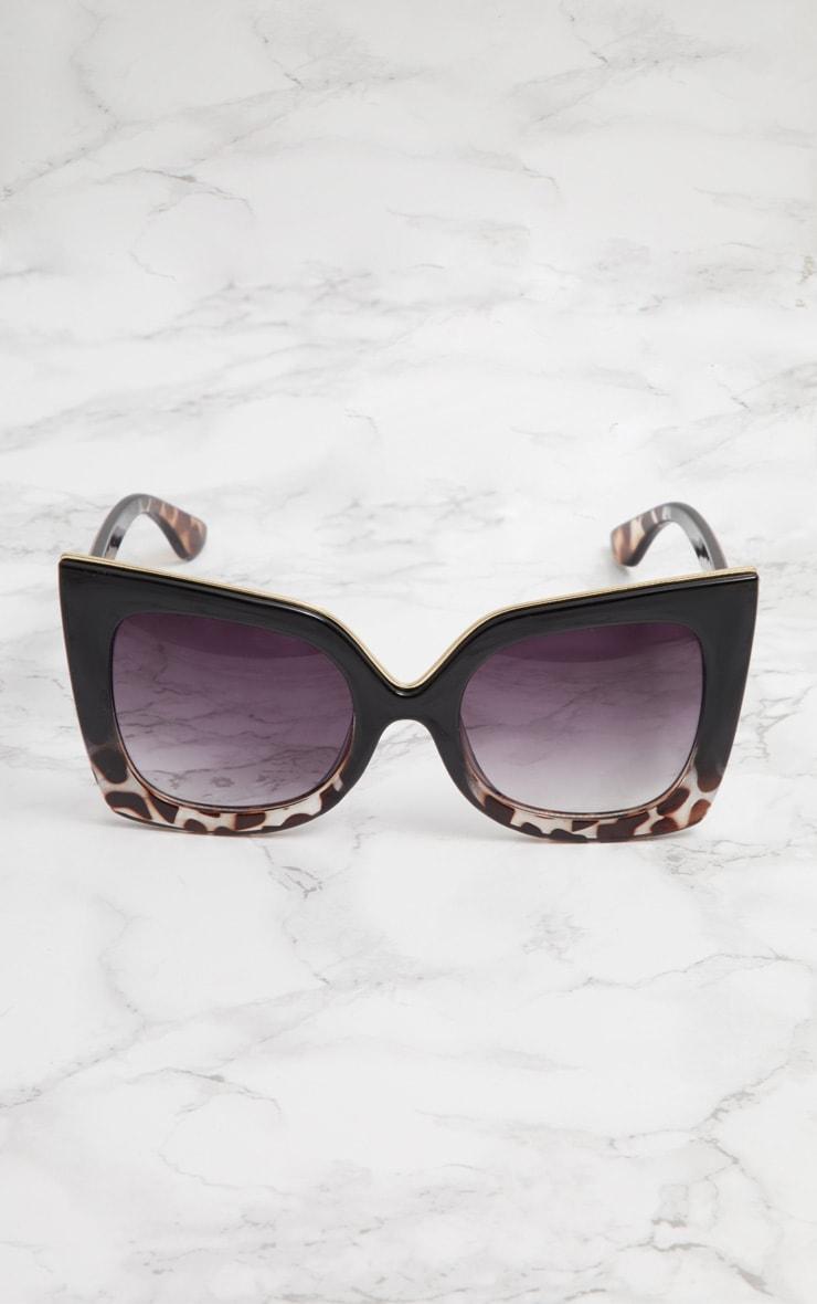 Black Half Tortoiseshell Oversized Sunglasses 3