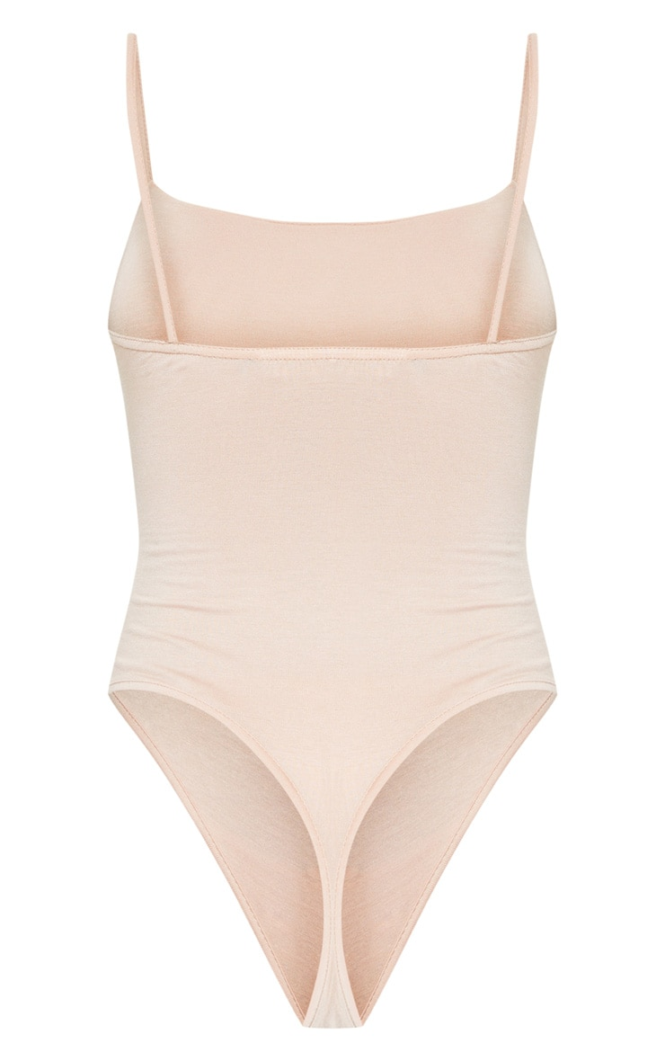 Basic Nude Square Neck Thong Bodysuit 4