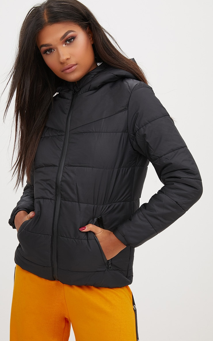 00ac5b84a38 Black Hooded Puffer Jacket. Shop the range of coats   jackets today ...