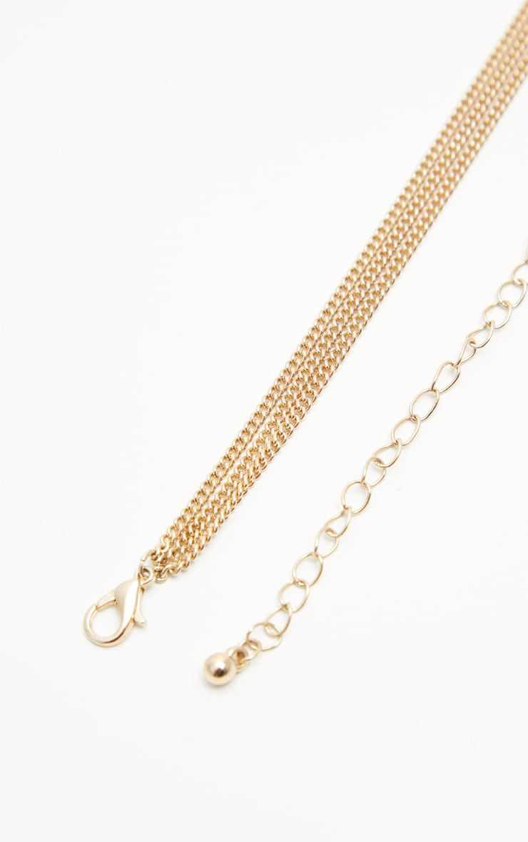 Gold Heart Mini Coin Double Layer Necklace 4