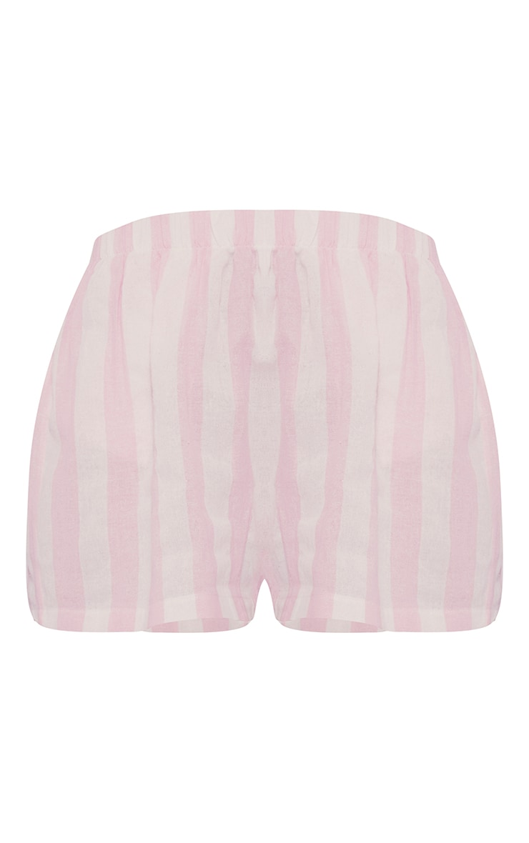 Pink Mix And Match Wide Stripe Cotton PJ Shorts 6