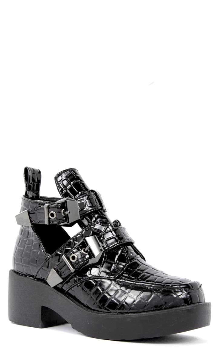 Crystal Cut Out Croc Boots 2