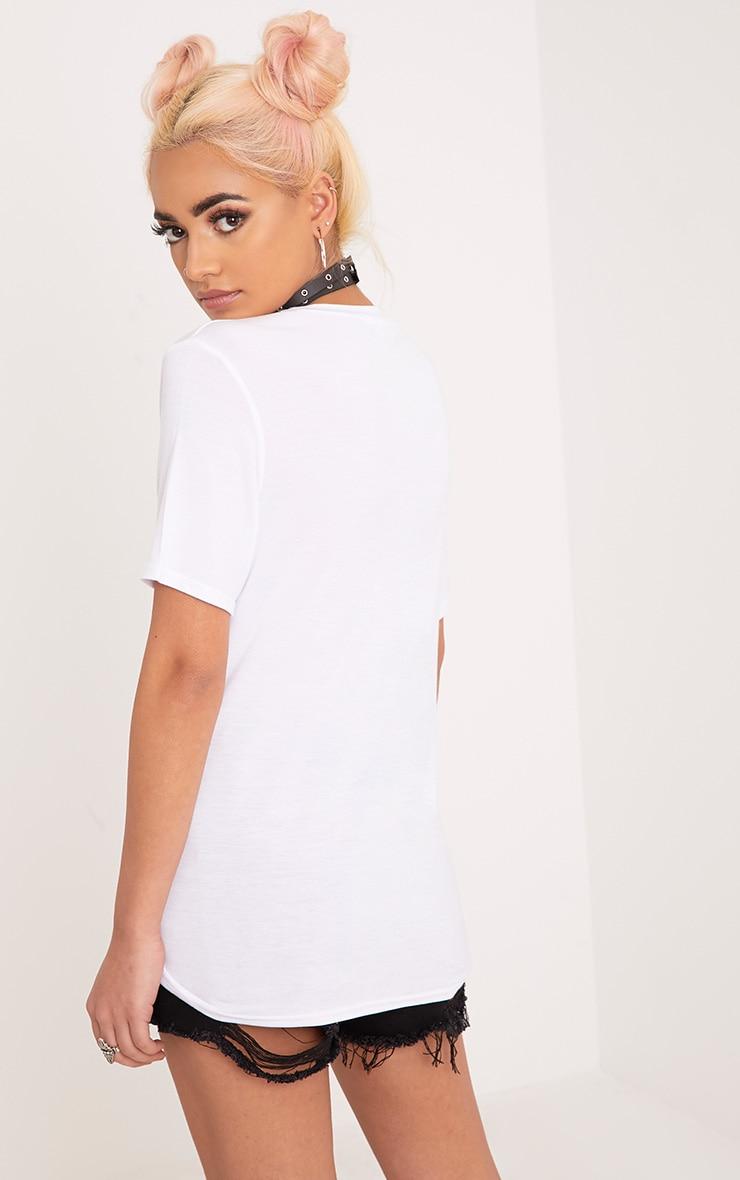 Rockstar Legend Slogan White Print T Shirt 2