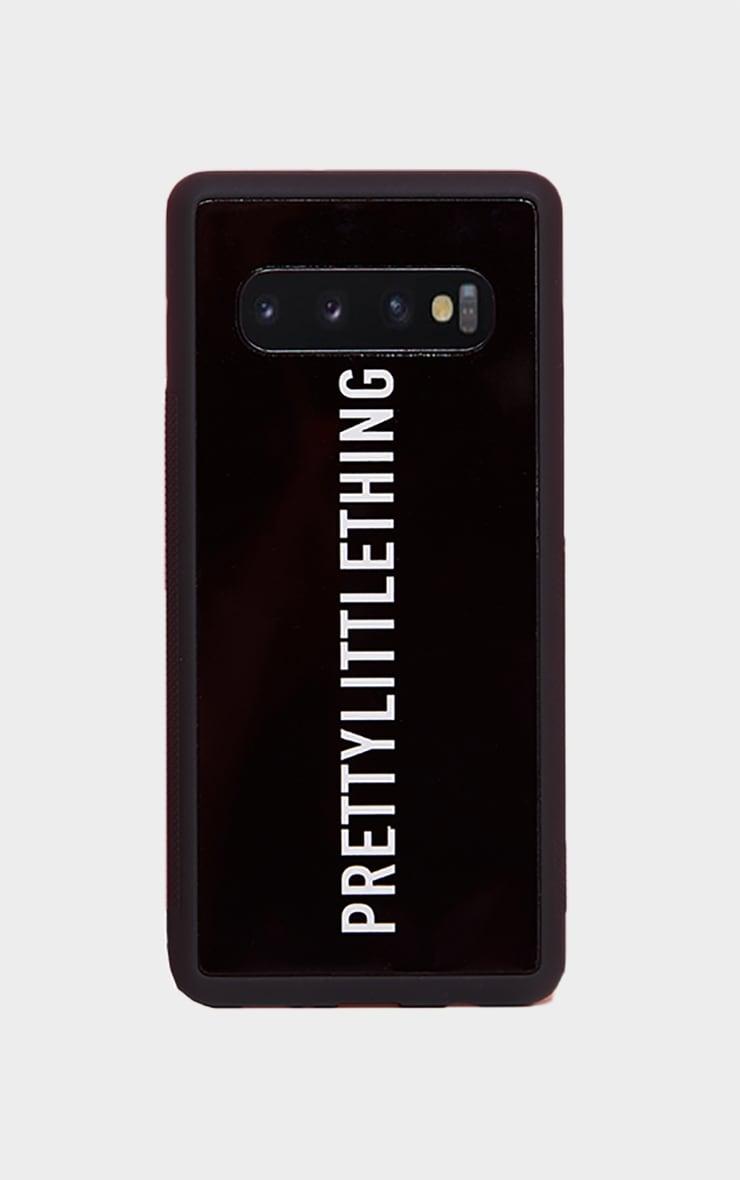 PRETTYLITTLETHING Black Logo Samsung S10 Phone Case 3