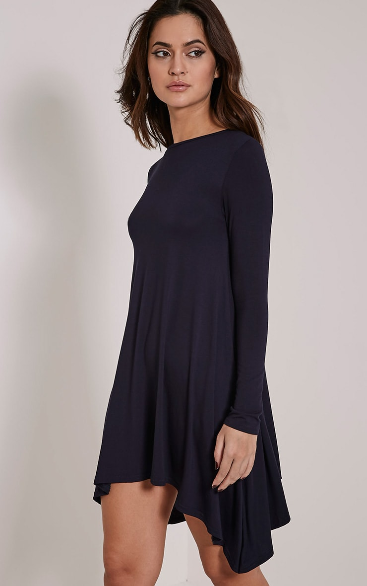 Basic Navy Swing Dress 4