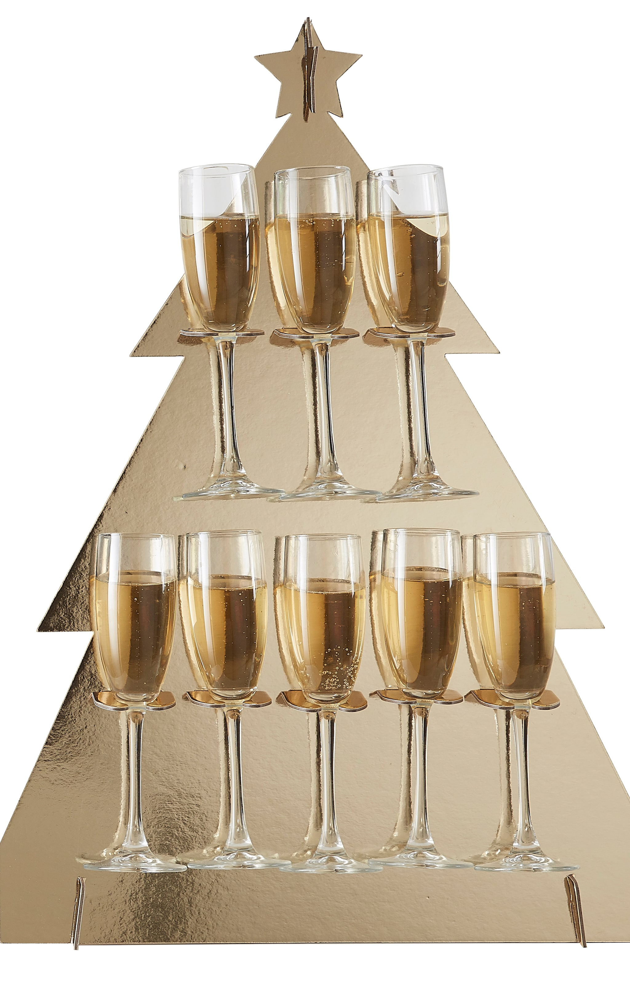 Ginger Ray Prosecco Wall Christmas Tree  Gold 2