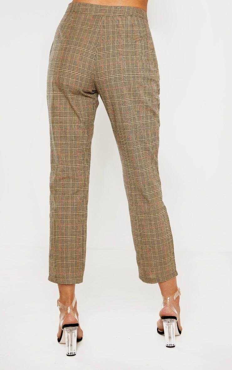 Tall - Pantalon droit marron imprimé carreaux 4