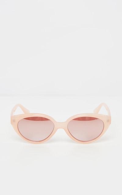 Pink Plastic Frame Oval Sunglasses