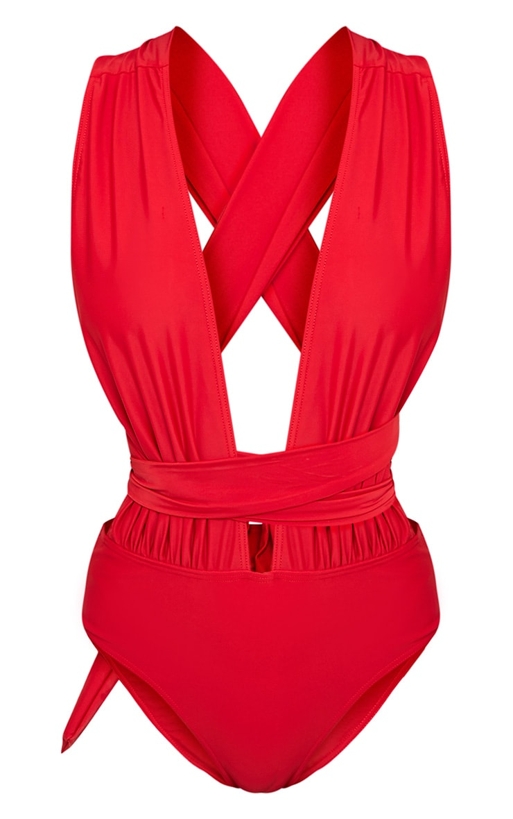 Amanda Red Multiway Swimsuit 3