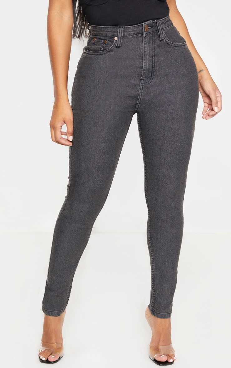 Shape Charcoal High Waisted Skinny Jean 2