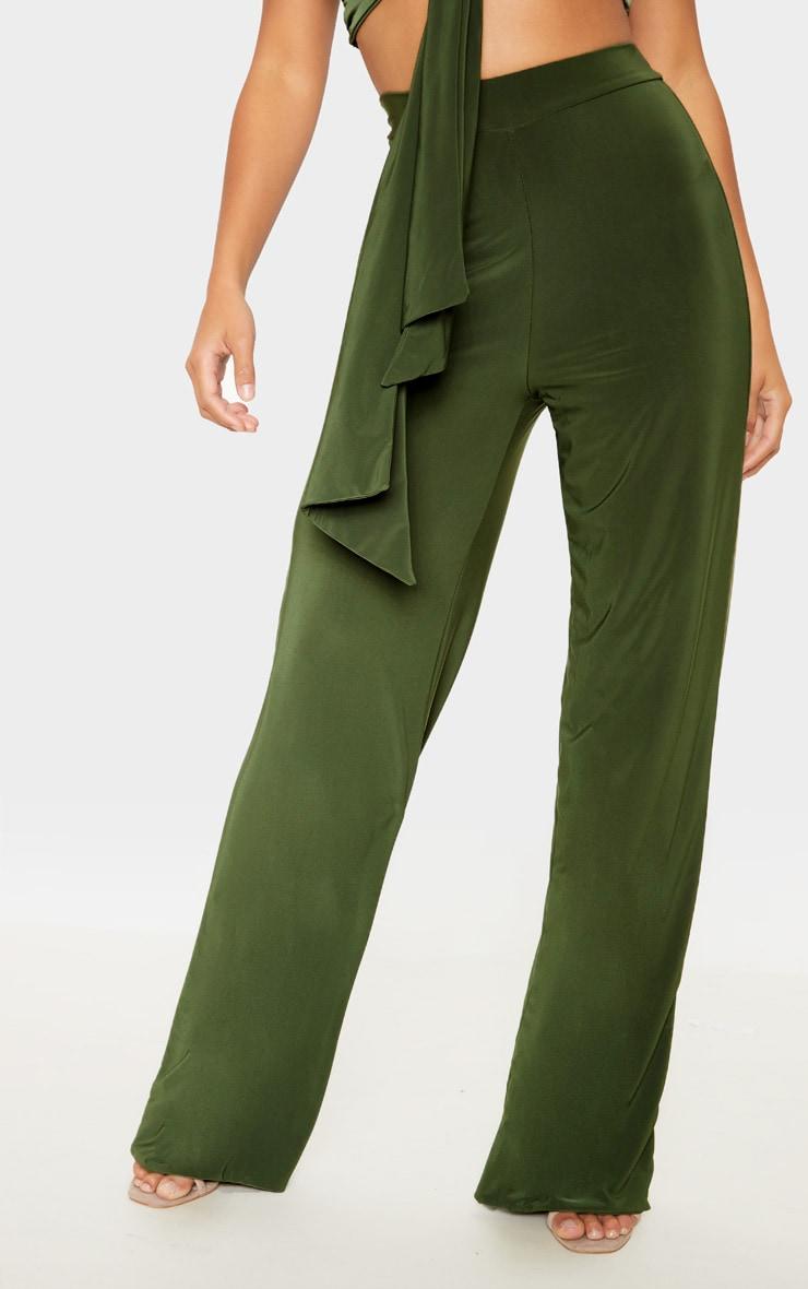 Petite - Pantalon slinky ample vert  2