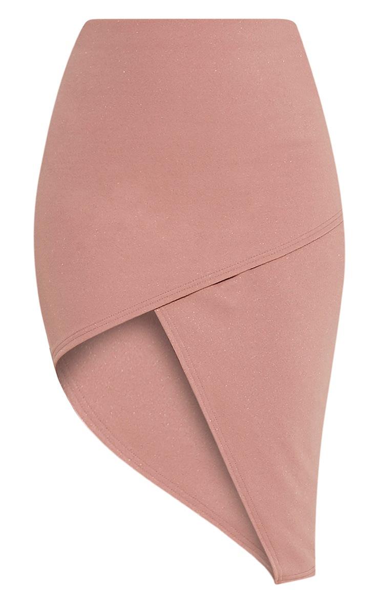 Chloe Dusty Pink Asymmetric Wrap Midi Skirt 3