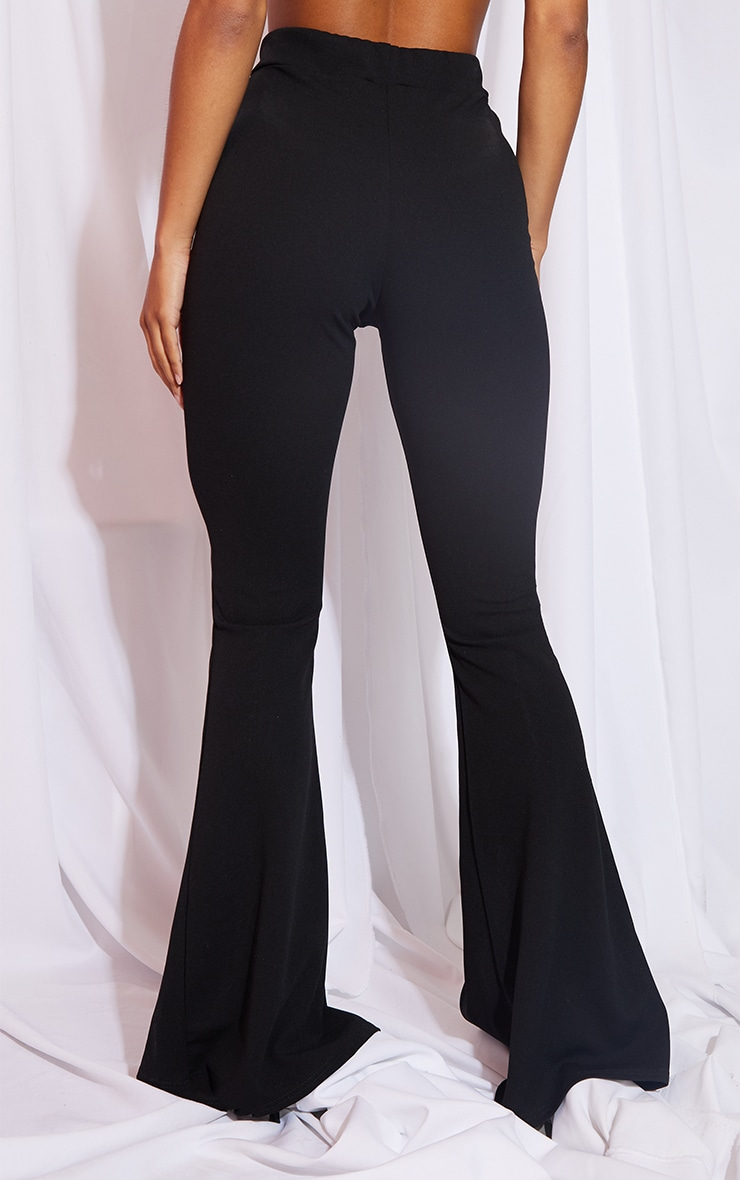 Black Split Hem Flared Trouser 3
