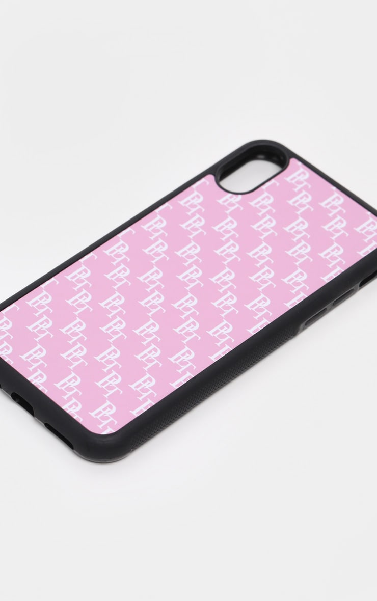PRETTYLITTLETHING Baby Pink Monogram 10/X/XS iPhone Case  3