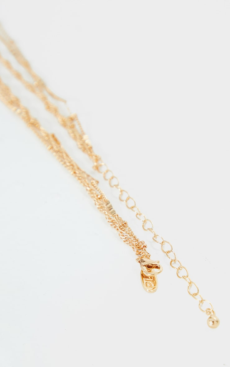 Gold Multi Chain Oversized Butterfly Necklace 4