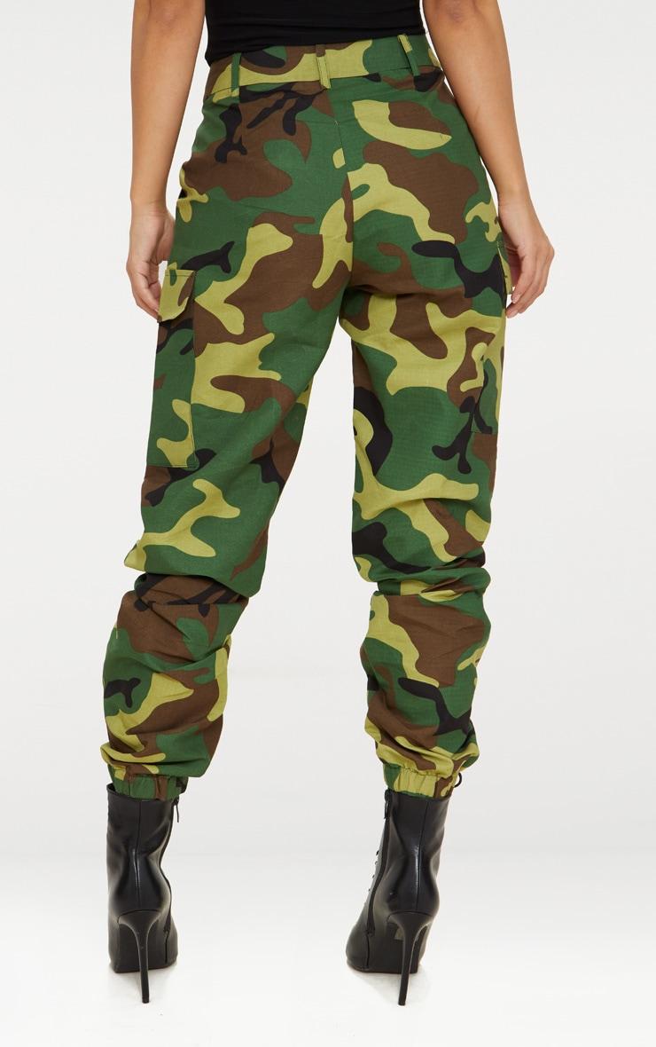 Petite Green Camo Print Cargo Pants 5