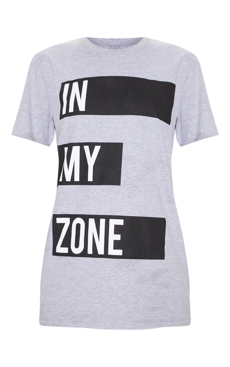 Grey Cotton In My Zone T Shirt 4