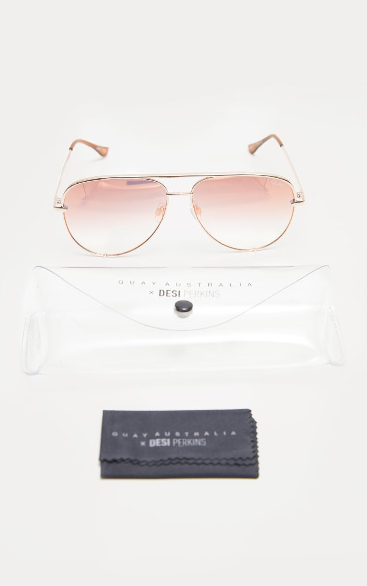 QUAY AUSTRALIA Rose X Desi Collaboration High Key i Sunglasses 3