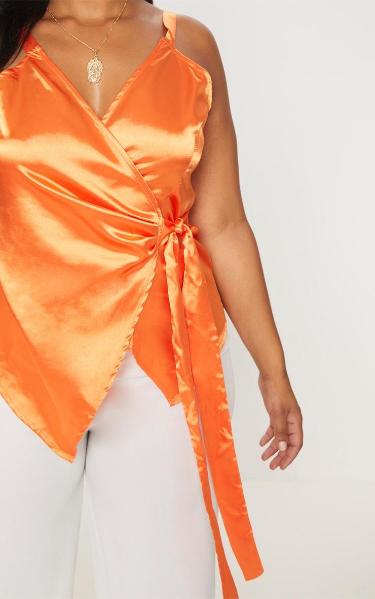 Plus Orange Wrap Top 5