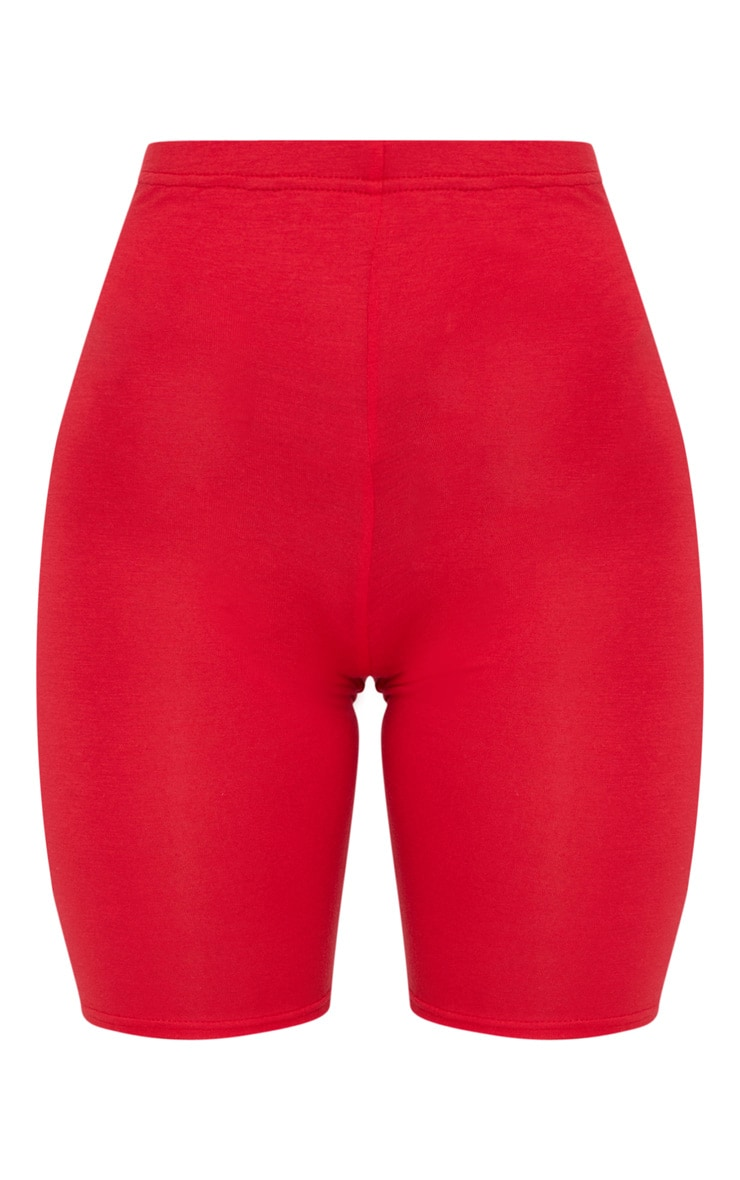 Red Basic Bike Shorts 3