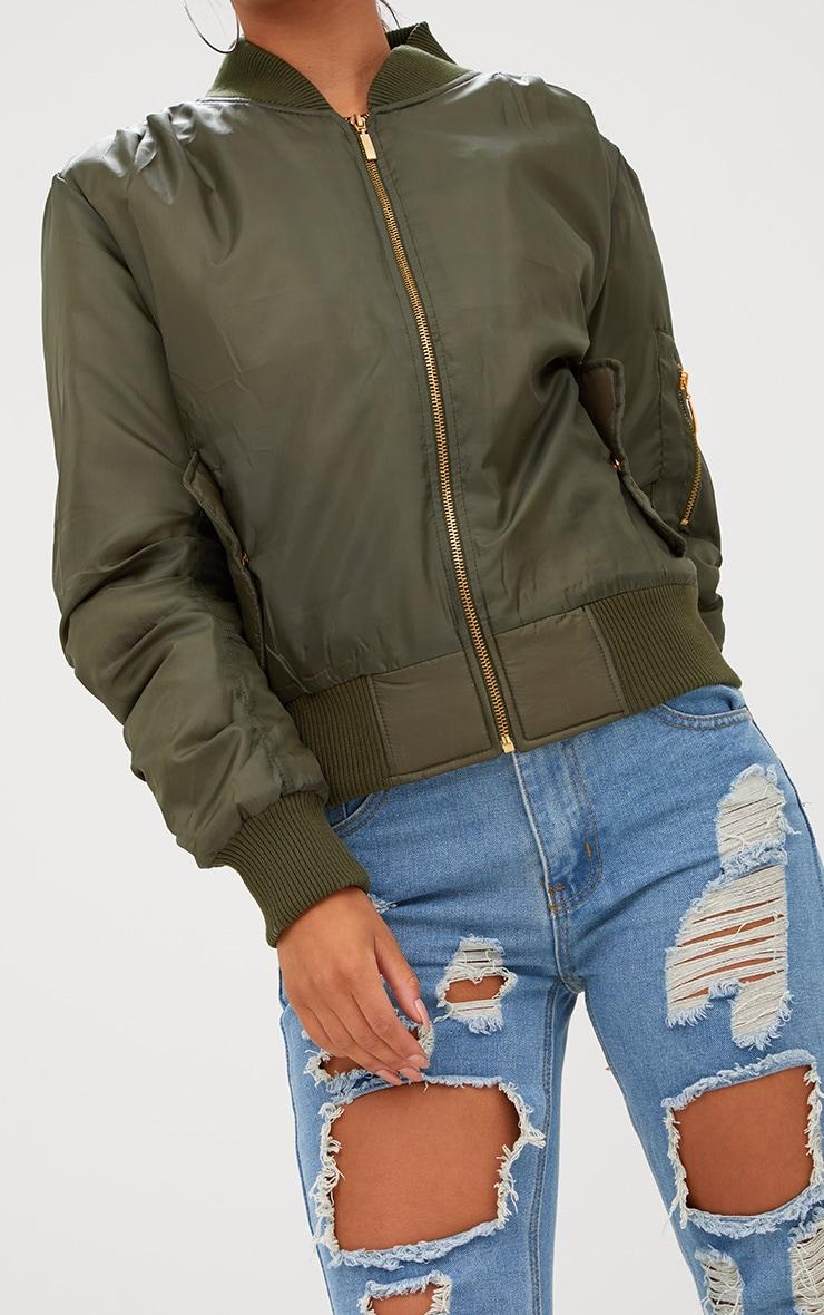 Alexus Khaki Bomber Jacket 5