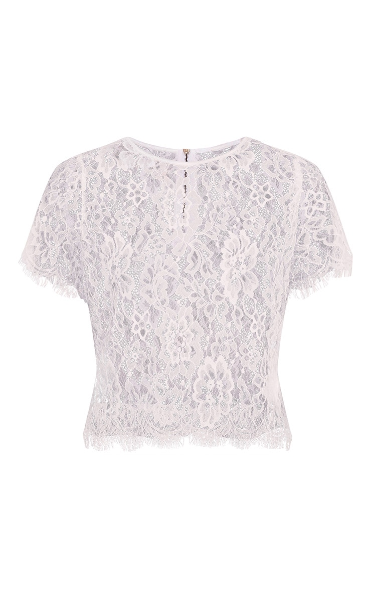 Avonna White Lace Top 3