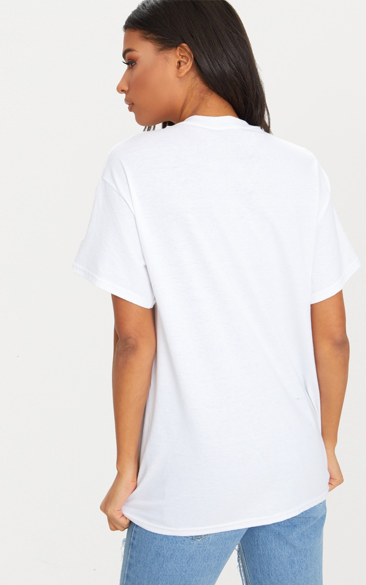 White Weekend Tee Slogan Oversized T Shirt 4