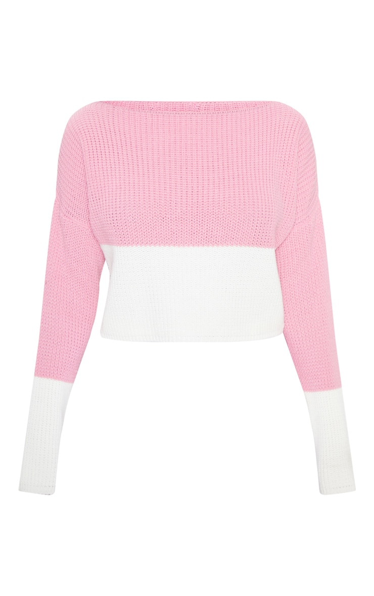 Rose Colour Block Jumper 3