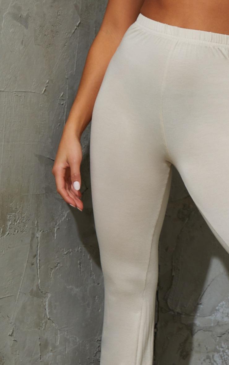 Petite - Pantalon flare basique gris pierre 4