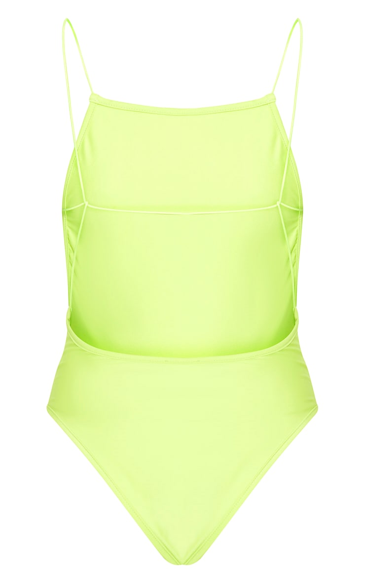 Green 90's Neck Strap Detail Swimsuit 4