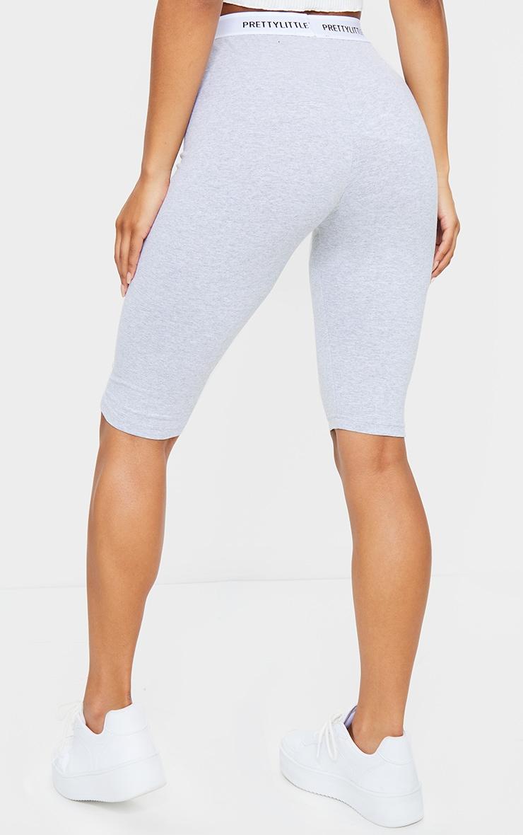 PRETTYLITTLETHING Grey Tape Bike Shorts 3