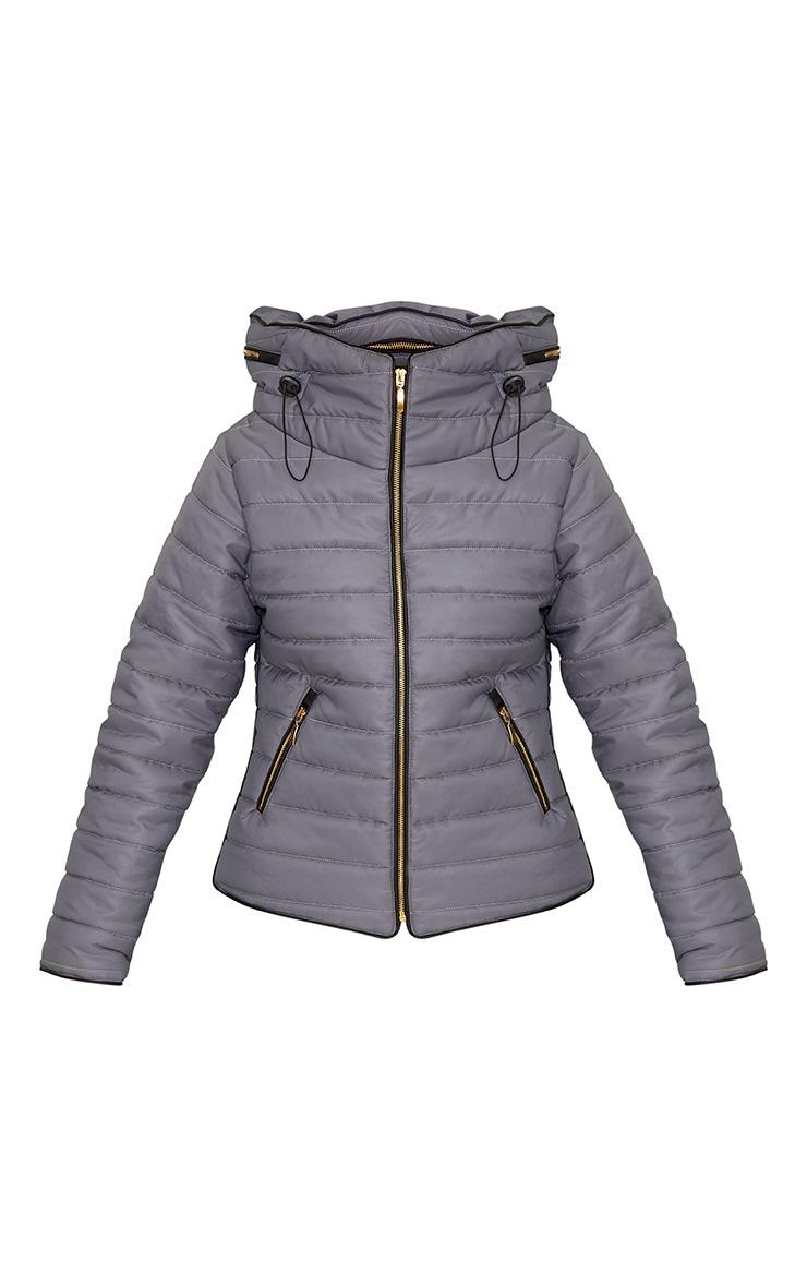 Mara Light Grey Puffer Jacket 3