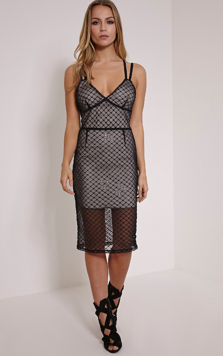 Gabby Nude Lace Lining Bodycon Dress 4
