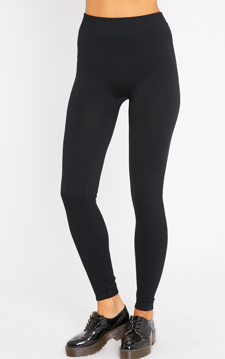 Basic Black Fleece Lined Leggings 3