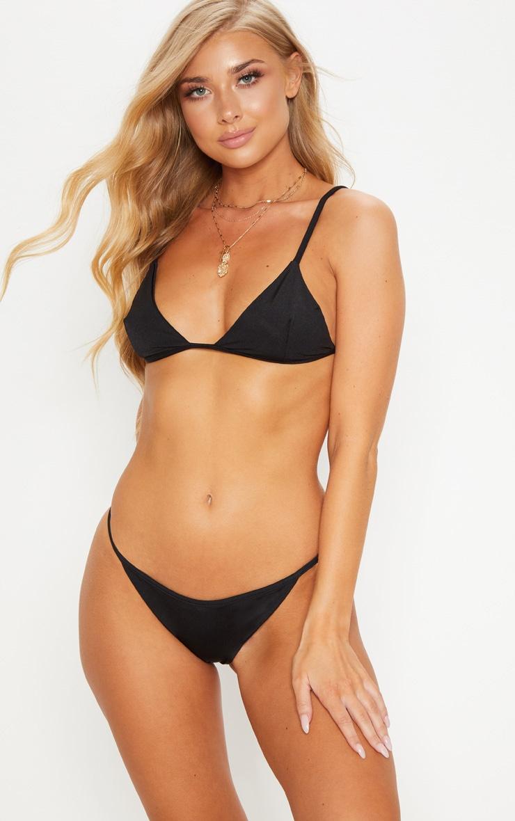 Black Mix & Match Itsy Bitsy Bikini Bottom 1