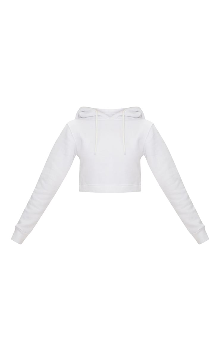 Hoodie en polaire blanche 3