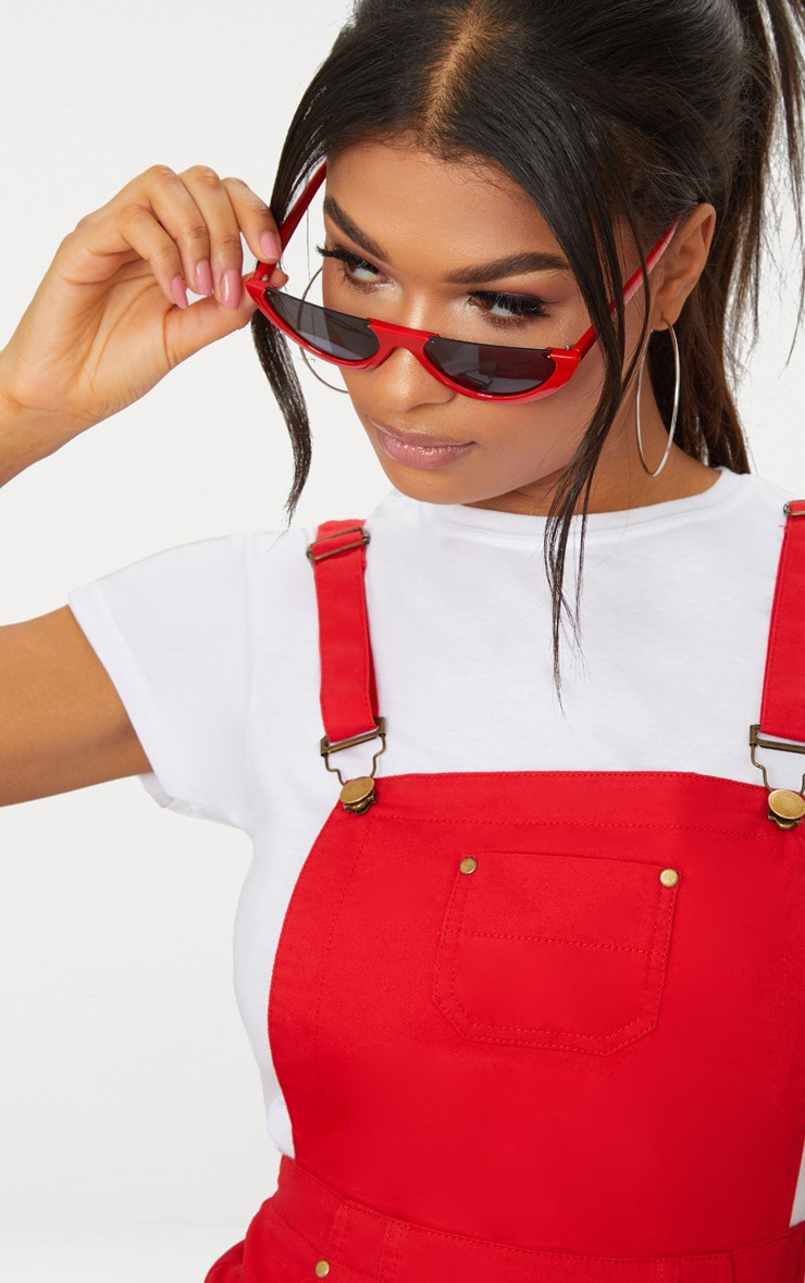 Red Pinafore Dress 5