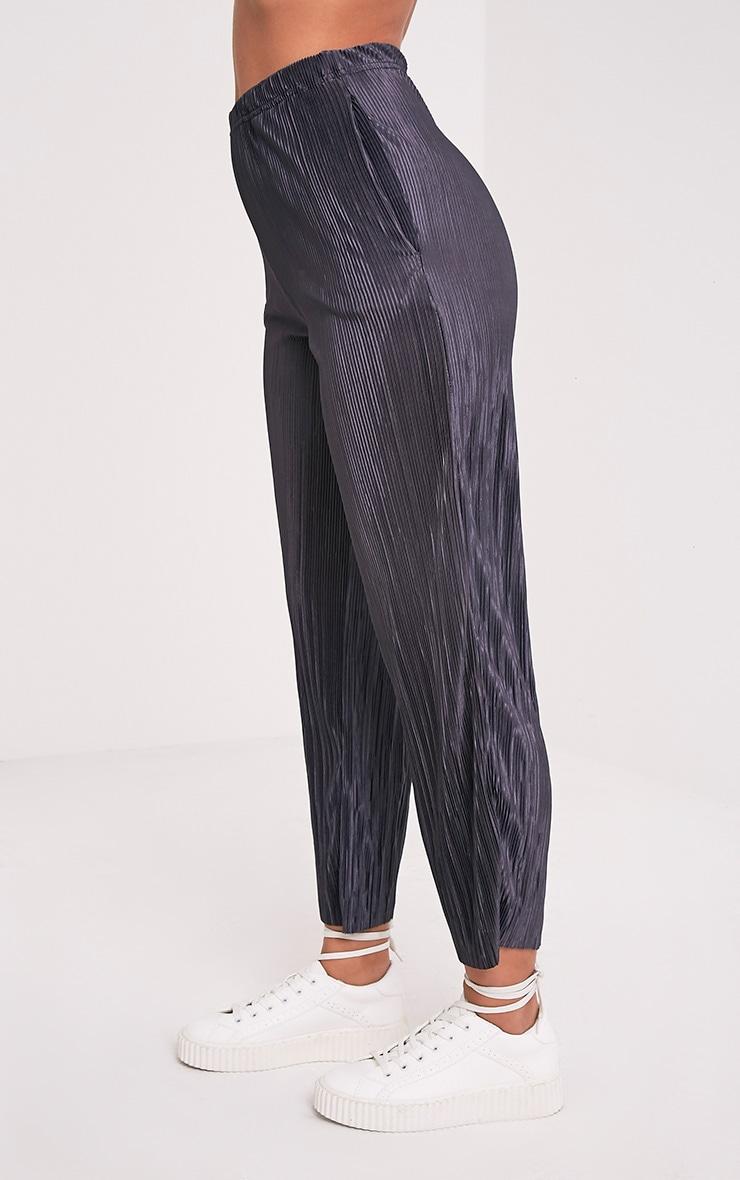 Lianne Grey Soft Pleated Cigarette Trousers 4