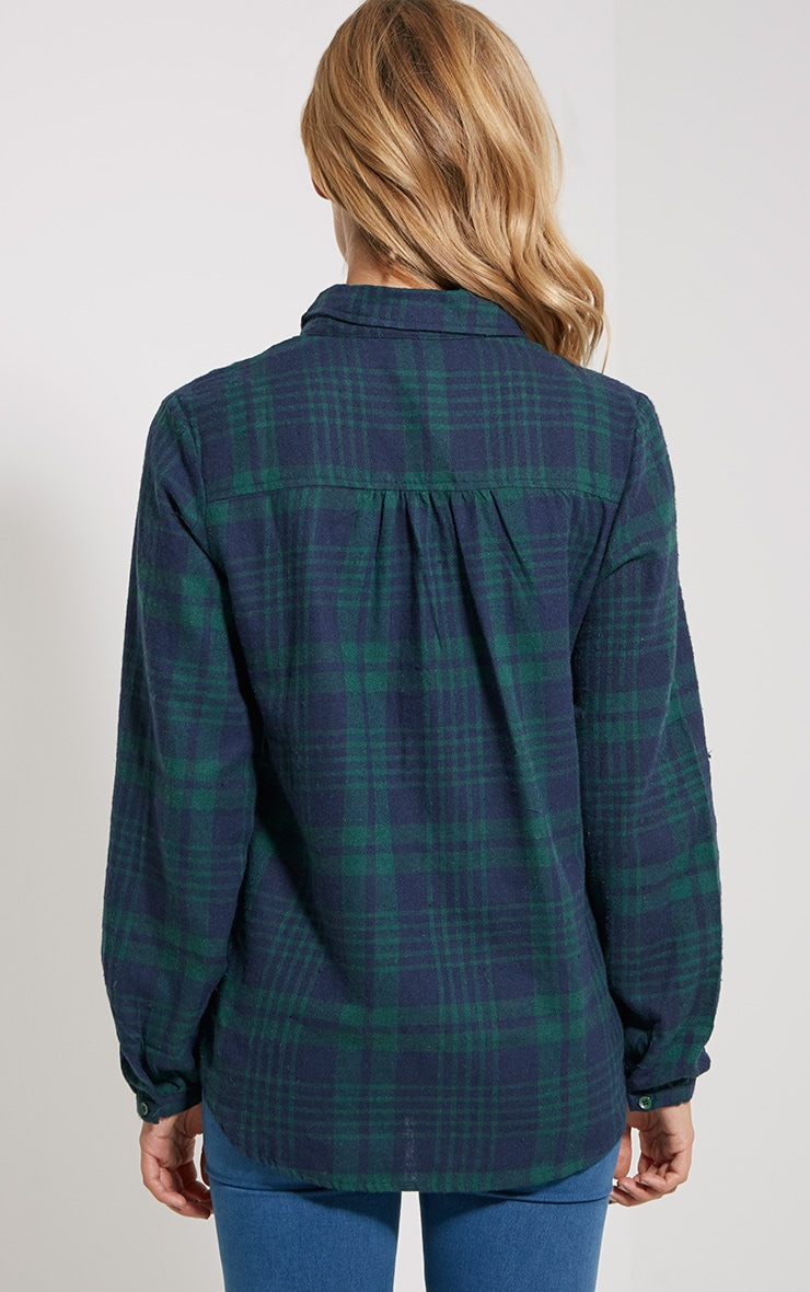 Mariel Green Checked Shirt 2