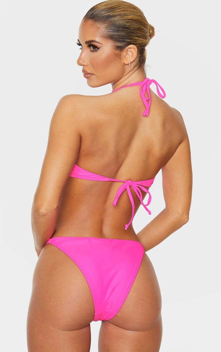 Pink Underwired Tanga Bikini Top 2