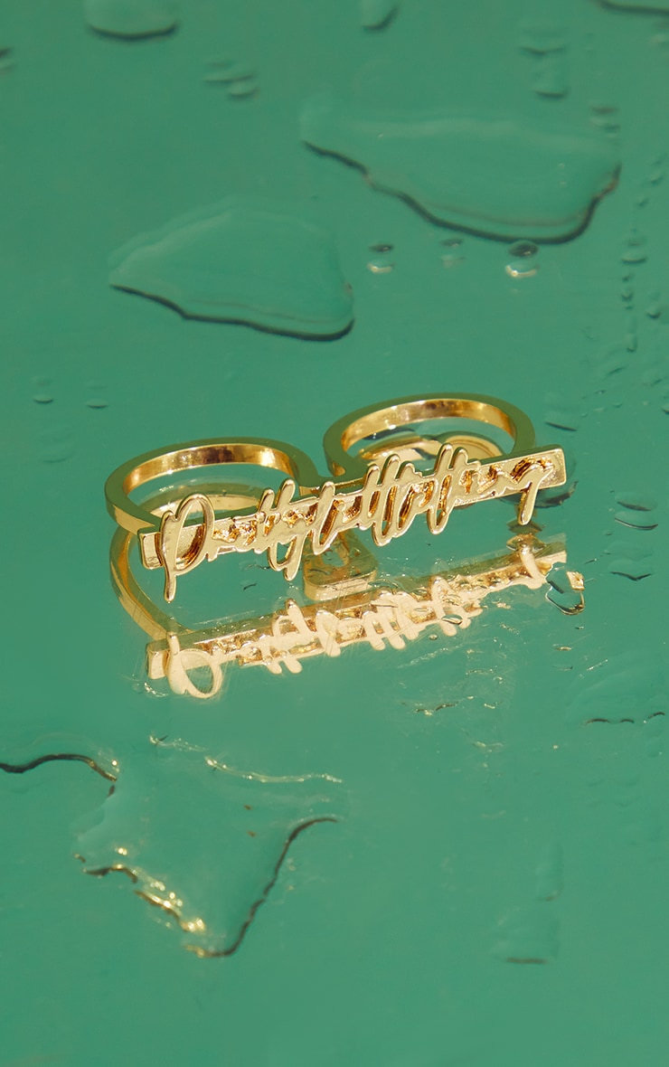 PRETTYLITTLETHING Signature Ring 3