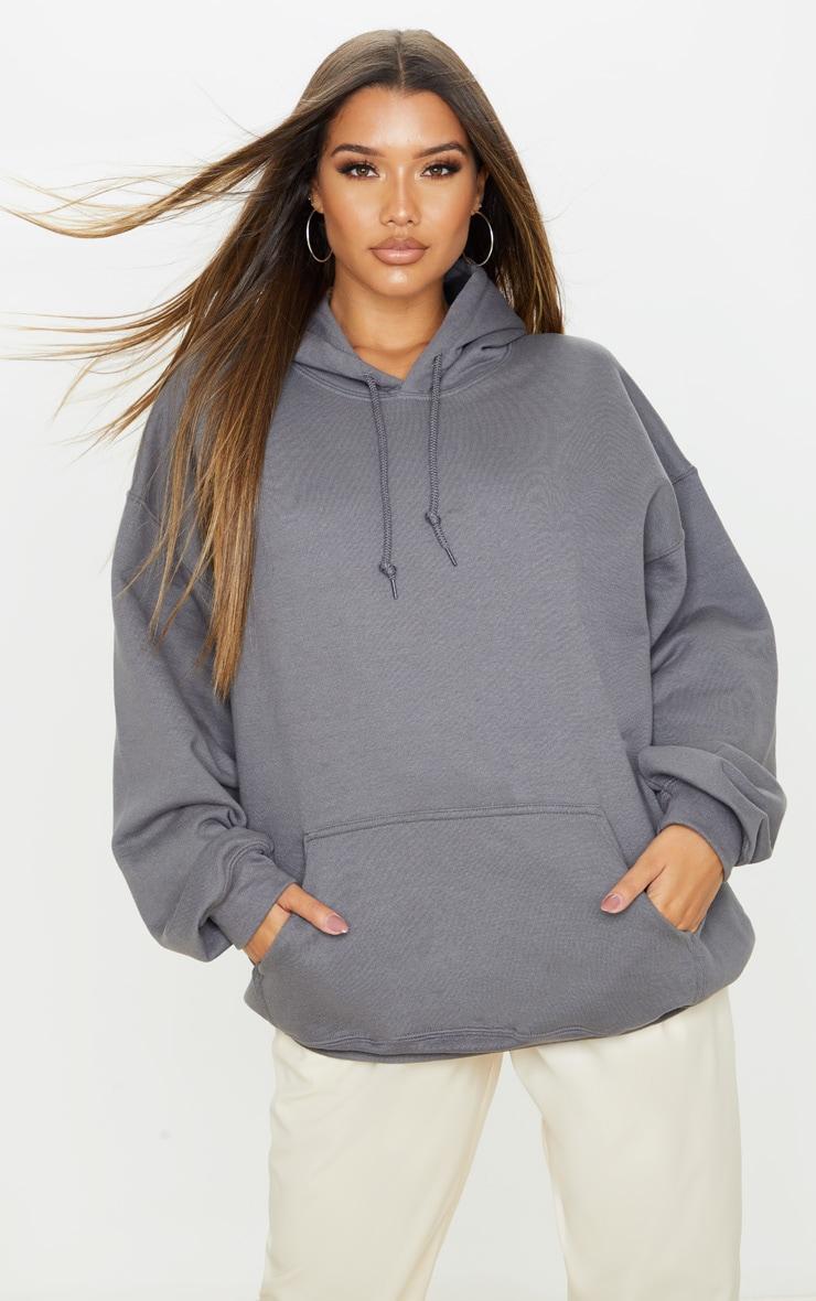 Charcoal Oversized Ultimate Hoodie 1